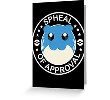 Pokemon Spheal of Approval - White Greeting Card