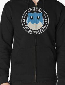 Pokemon Spheal of Approval - White Zipped Hoodie
