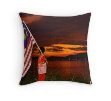 Patriotic Boy Throw Pillow