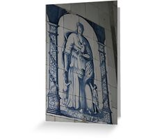 Wall decoration Blue Delft Greeting Card