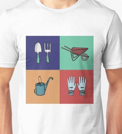 Hand-Drawn Garden Set Unisex T-Shirt