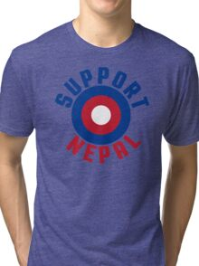 Support Nepal EARTHQUAKE RELIEF FUND DESIGN Tri-blend T-Shirt