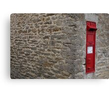 The Postbox in the village Canvas Print