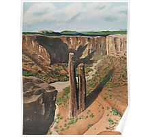 Spider Rock Arizona USA ~ Oil Painting Poster