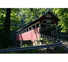 one of pa's covered bridges Photographic Print