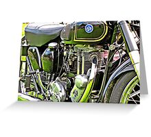 """Classic Motor Bikes"" Greeting Card"