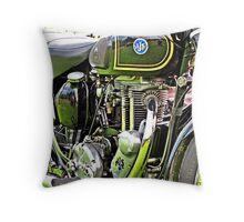 """Classic Motor Bikes"" Throw Pillow"