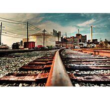 Train on Tracks Photographic Print