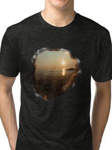 beach scene Tri-blend T-Shirt