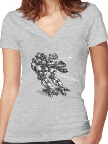 cauldron born Women's Fitted V-Neck T-Shirt