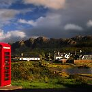 Plockton Phone Box, Highlands of Scotland. by PhotosEcosse