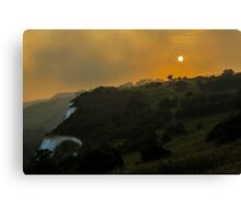 Full Moon at Sunset Canvas Print