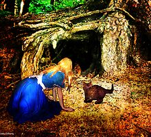 At the front of the rabbit hole by 1chick1