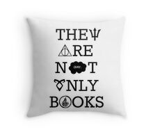 They Are Not Only Books Throw Pillow