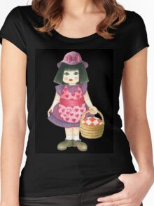 pink doll Women's Fitted Scoop T-Shirt