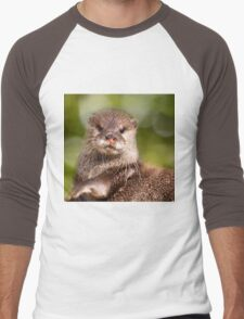 Otter, London Zoo Men's Baseball ¾ T-Shirt