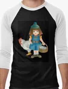 doll and chicken Men's Baseball ¾ T-Shirt