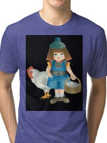 doll and chicken Tri-blend T-Shirt