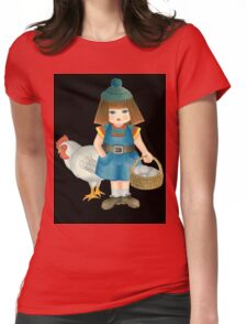 doll and chicken Womens Fitted T-Shirt