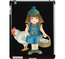doll and chicken iPad Case/Skin