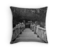 Coopers Rock Footbridge  Throw Pillow