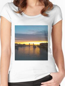 Tower Bridge Backlit Women's Fitted Scoop T-Shirt