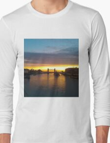 Tower Bridge Backlit Long Sleeve T-Shirt