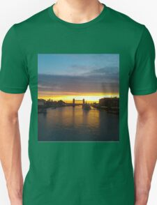 Tower Bridge Backlit Unisex T-Shirt