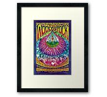 Woodstock Vintage Poster Framed Print