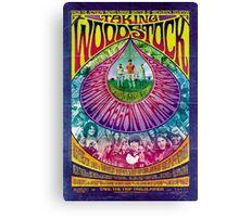 Woodstock Vintage Poster Canvas Print