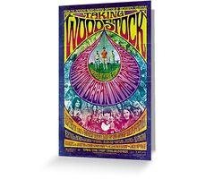 Woodstock Vintage Poster Greeting Card
