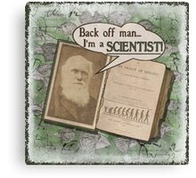 Popular Science: Charles Darwin 2 (distressed) Canvas Print