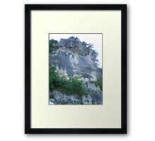 Bluff at Ten Killer Lake Framed Print