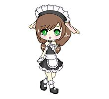 Bunny Maid Chibi by Schizophrenic