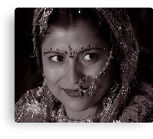 WHEN SHE SAW HER GROOM Canvas Print