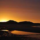 Beach sunset by shakey