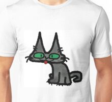 Kitty with Tongue Sticking Out Unisex T-Shirt