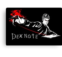 Dex Note Canvas Print