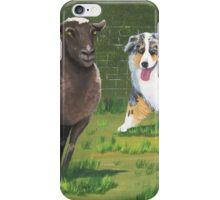 Fetch ~ Australian Shepherd ~ Oil Painting  iPhone Case/Skin