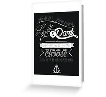 Light and Dark Greeting Card