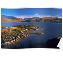Plockton and Loch Carron, North West Highlands. Scotland. Poster