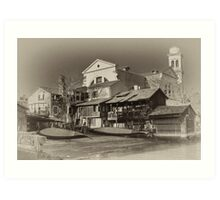 Where Gondolas Born Art Print