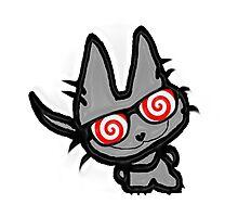 Kitty's Fun Hypno Glasses Photographic Print
