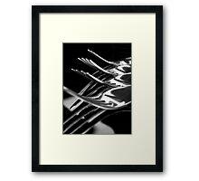 Mono Tines Framed Print