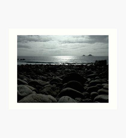 Cot Valley Beach, St Just Art Print