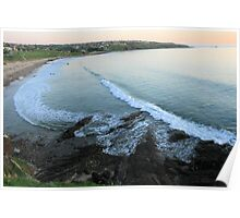 Hallett Cove, S.A. from the cliffs at sunset. Poster