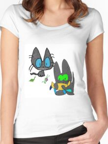 Cats with Toys Women's Fitted Scoop T-Shirt