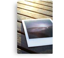 Polaroid on the deck Canvas Print