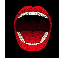 shattered glass mouth  Photographic Print