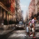 Walking down Mercer Street by Mike  Savad